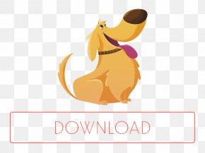 Cartoon Dog With Tongue - Dog Cartoon Graphic Design PNG
