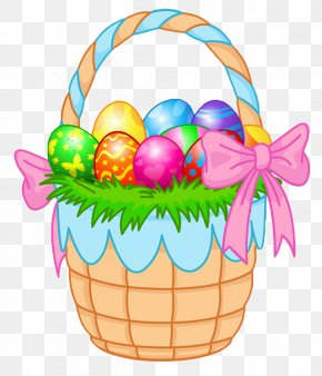 Transparent Easter Basket Clipart Picture - Easter Bunny Easter Egg Easter Basket Clip Art PNG