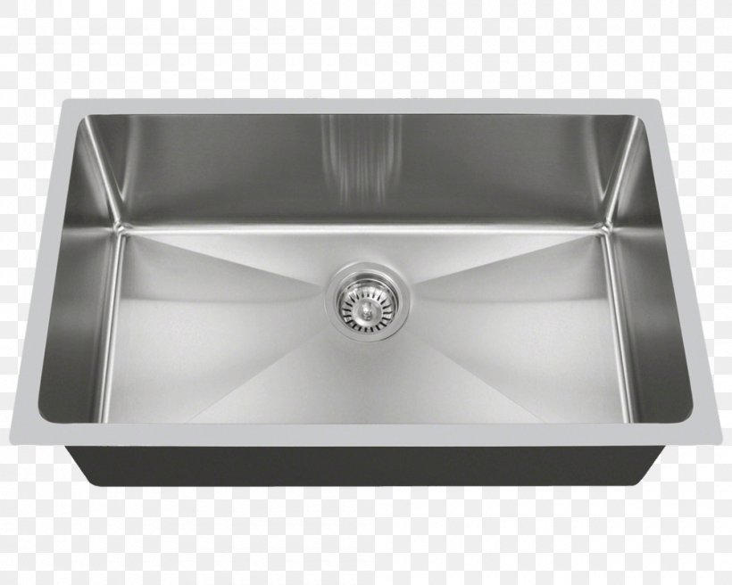 Sink MR Direct Stainless Steel Brushed Metal Tap, PNG, 1000x800px, Sink, Bathroom Sink, Bowl Sink, Brushed Metal, Cabinetry Download Free