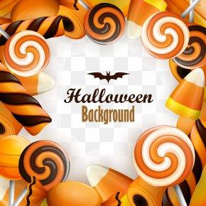 Vector Colorful Halloween Candy - Halloween Euclidean Vector Candy PNG