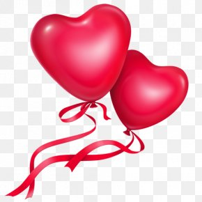 Two Love Balloon - Love Heart Clip Art PNG