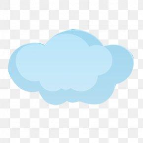 Cartoon Cloud - Blue Cloud Sky Pattern PNG