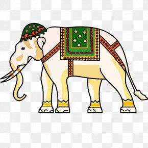 Thai Elephant Wind - Indian Elephant Ornament Clip Art PNG