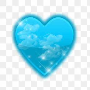 Simple Heart-shaped Blue - ICO Icon PNG