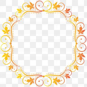 Fall Border Frame Transparent Clip Art Image - Picture Frame Clip Art PNG