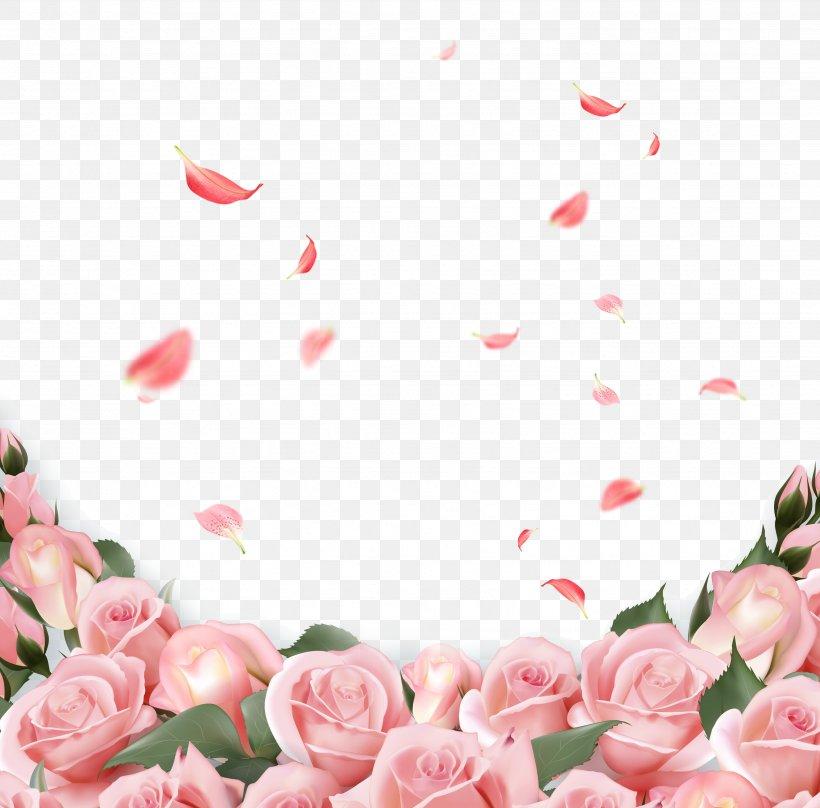 Rose Flower Wedding Invitation Pink, PNG, 3478x3428px, Valentine S Day, Artificial Flower, Bad Valentine, Blossom, Dia Dos Namorados Download Free