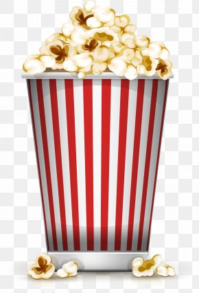 Cartoon Yellow Popcorn - Popcorn Film Cinema Illustration PNG