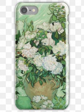 Van Gogh - Still Life: Vase With Pink Roses Irises The Church At Auvers National Gallery Of Art At Eternity's Gate PNG