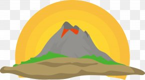 Simple Hand-painted Vector Volcano - Euclidean Vector Volcano Clip Art PNG