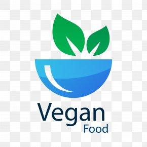 Healthy Vegetarian Logo Vector Material PNG