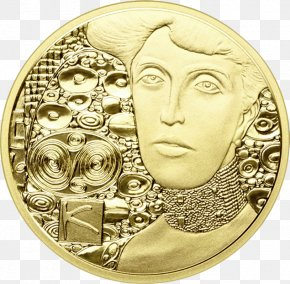 Painting - Portrait Of Adele Bloch-Bauer I Adele Bloch-Bauer II Gold Coin Painting PNG