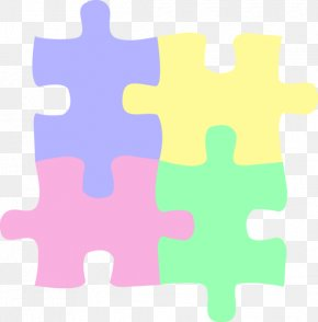 Pastel Cliparts - Jigsaw Puzzle Autistic Spectrum Disorders Autism Child Game PNG