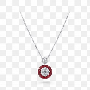 Necklace - Locket Necklace Ruby Body Jewellery PNG
