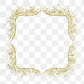 Gold Frame Vector Material - Picture Frame Glitter Gold Clip Art PNG