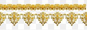 Vector Golden Flower Pattern - Gold Flower Floral Design PNG