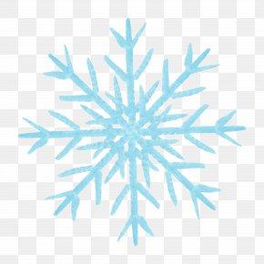 Blue Snowflake Pattern - Snowflake Blue Motif Pattern PNG