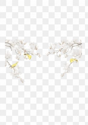 FIG Birds Flowers Bloom - Textile White Bird Red Pink PNG