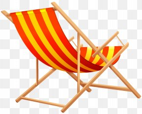 Transparent Beach Lounge Chair Clipart Picture - Eames Lounge Chair Beach Clip Art PNG