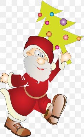 Cute Santa Claus Christmas Tree Material - Santa Claus Christmas Ornament Christmas Tree PNG