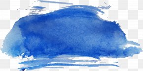 Dark Blue Watercolor Brush - Watercolor Painting Sketch PNG