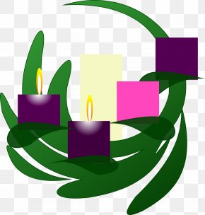 Church Candles - Advent Wreath Clip Art PNG