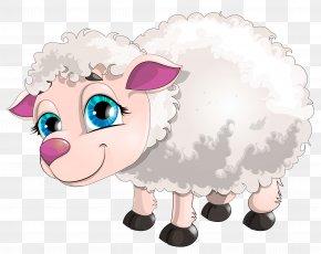 Cute White Lamb Clipart Picture - Sheep Goat Clip Art PNG