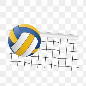 Volleyball And Volleyball Net Vector - Volleyball Team Sport PNG