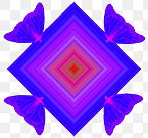 Blue Butterfly Pattern - Butterfly Blue Purple Pattern PNG