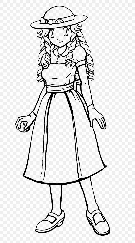 Dress /m/02csf Line Art Drawing Costume, PNG, 1024x1843px, Dress, Artwork, Behavior, Black And White, Cartoon Download Free