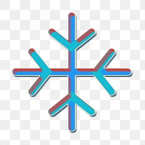 Symbol Electric Blue - Flake Icon Forecast Icon Snowflake Icon PNG
