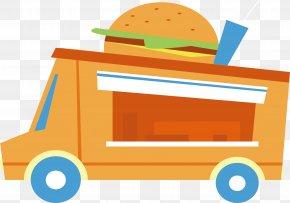 Retro Burger Car - Hamburger Burger Shop Fast Food French Fries PNG