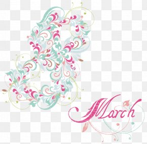 8 March Decoration PNG Clipart Picture - March 8 International Women's Day Clip Art PNG