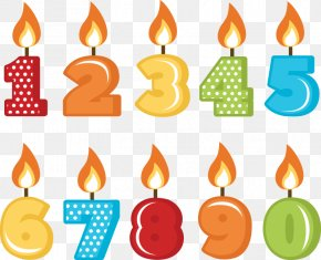 Birthday Candles File - Birthday Cake Candle Clip Art PNG