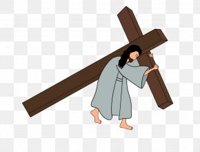 Jesus - Christian Cross Calvary Stations Of The Cross Drawing PNG