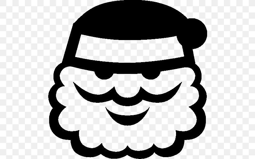 Santa Claus, PNG, 512x512px, Santa Claus, Black, Black And White, Christmas, Computer Graphics Download Free