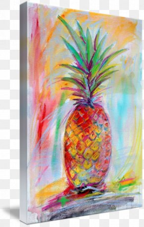 Watercolor Pineapple - Pineapple Acrylic Paint Still Life Watercolor Painting PNG
