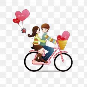 Cartoon Couple - Couple Love Romance PNG