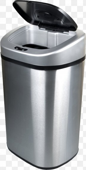 Trash Can - Waste Container Stainless Steel Recycling PNG