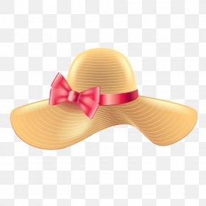 Fashion Women Bow Hat Image - Woman With A Hat Sun Hat Straw Hat Sombrero PNG