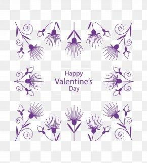 Vector Dandelion Pattern - Purple Valentines Day Euclidean Vector PNG