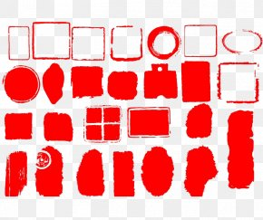 Red Official Template Template Background Material Map - Seal Graphic Design PNG