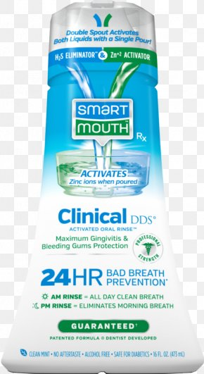 Bad Breath - Smartmouth Original Activated Mouthwash Human Mouth Bad Breath Xerostomia PNG