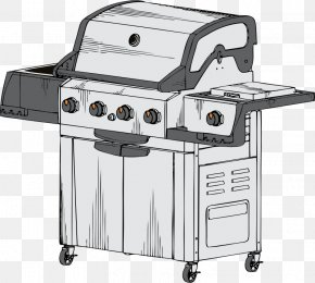 Grill - Barbecue Ribs Char Siu Grilling Drawing PNG