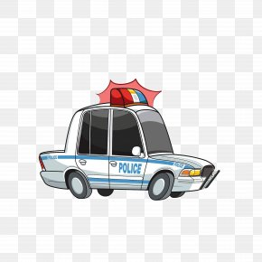 A Warning Light On A Police Car - Police Car Car Chase PNG
