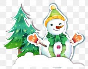 Christmas Snowman Christmas Tree Vector Material PNG