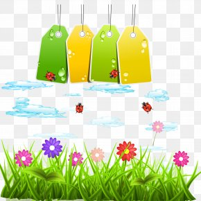 Spring On The New Blank Tag Vector Material - Environmental Protection Euclidean Vector PNG