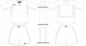 Blank Soccer Jersey Template - Sleeve Drawing Collar Neck Dress PNG