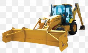 Thick Snow - Bulldozer Snowplow Snow Pusher Backhoe Loader PNG