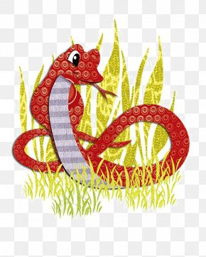 The Snake In The Cartoon - Snake Chinese Zodiac Cartoon Illustration PNG