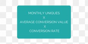 Conversion Rate Optimization - Turquoise Rectangle Brand Font PNG